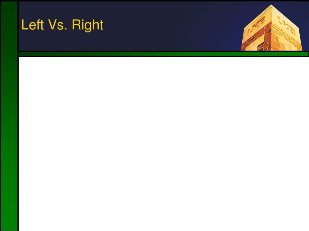 Left Vs. Right