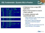 sql fundamentals dynamic sql in practice