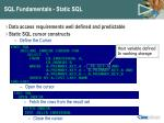 sql fundamentals static sql