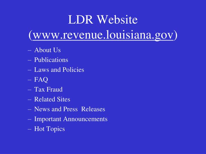 LDR Website (