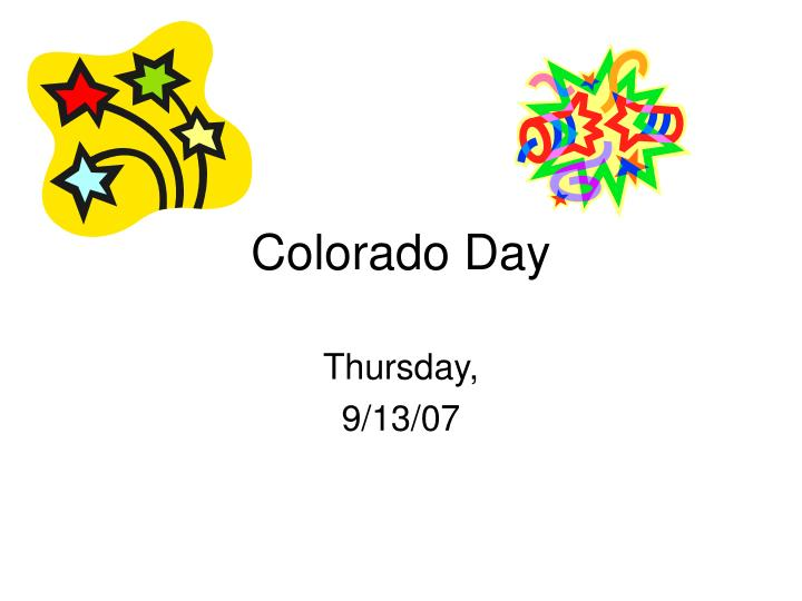 Colorado day