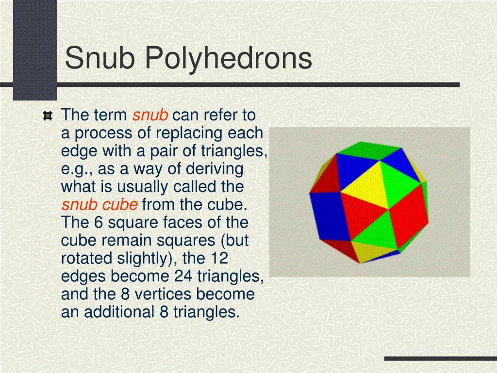 Snub Polyhedrons