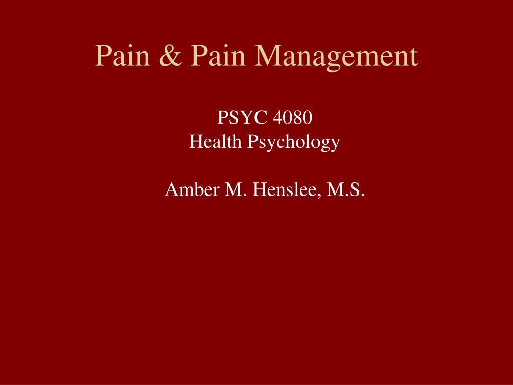 pain pain management l.
