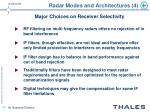 radar modes and architectures 4
