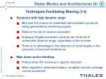 radar modes and architectures 6