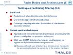 radar modes and architectures 8