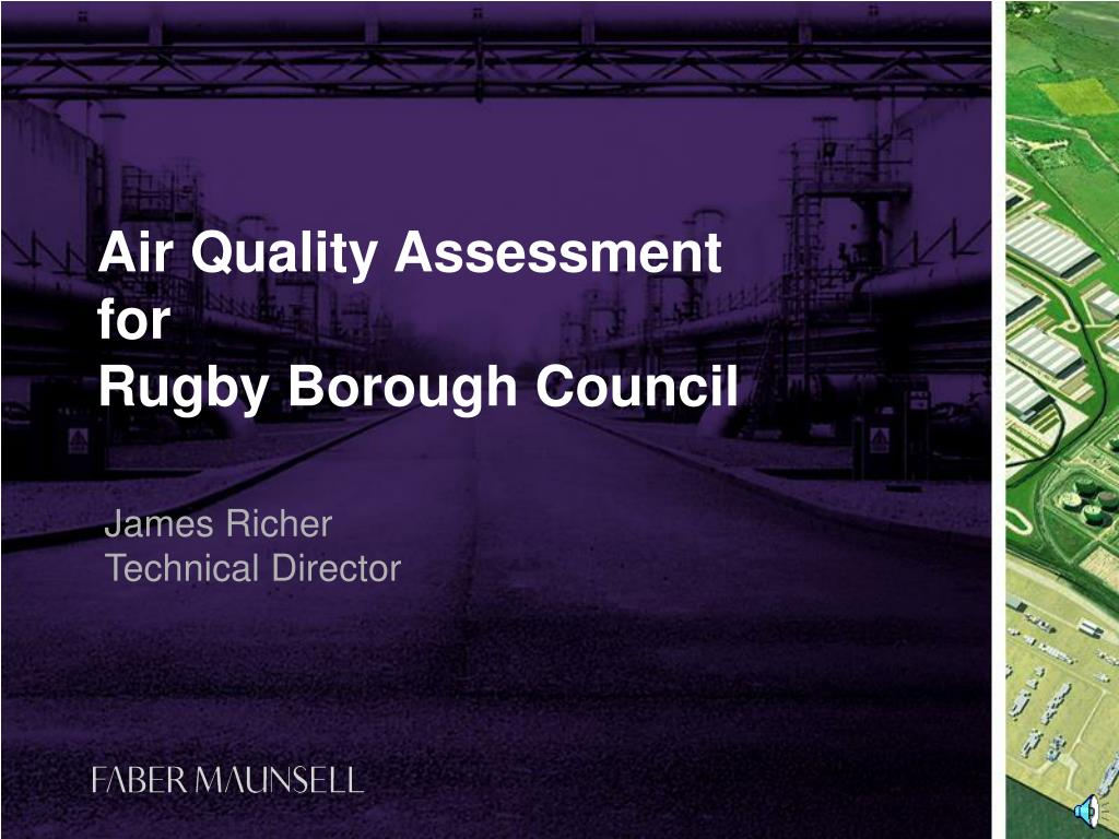 air quality assessment for rugby borough council l.