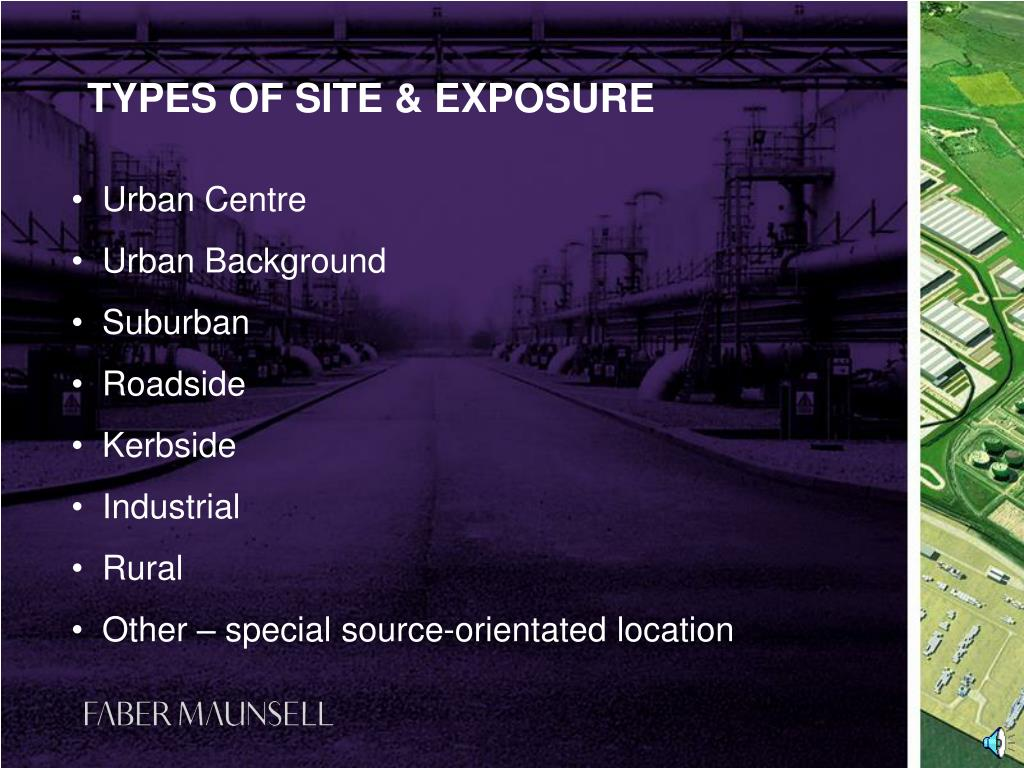 TYPES OF SITE & EXPOSURE