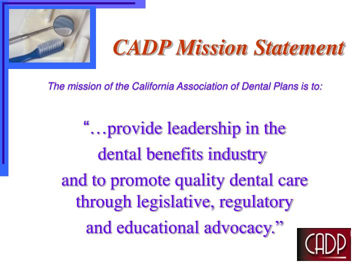 CADP Mission Statement