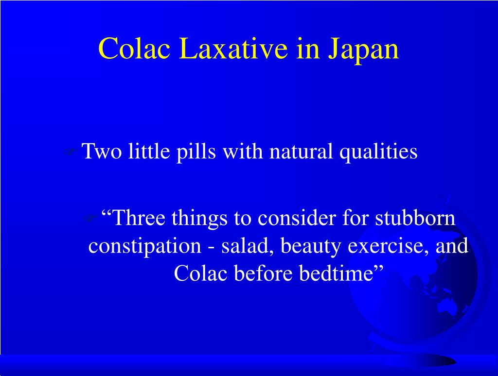 Colac Laxative in Japan