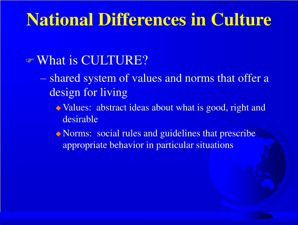 National Differences in Culture