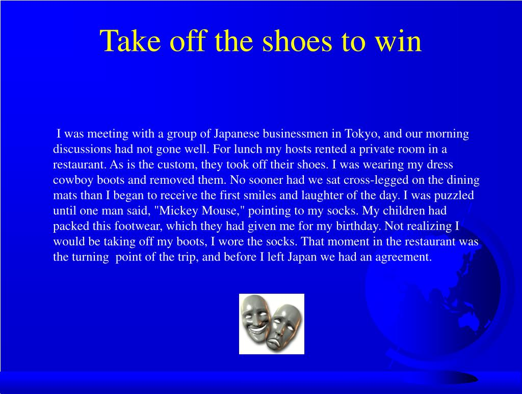 Take off the shoes to win