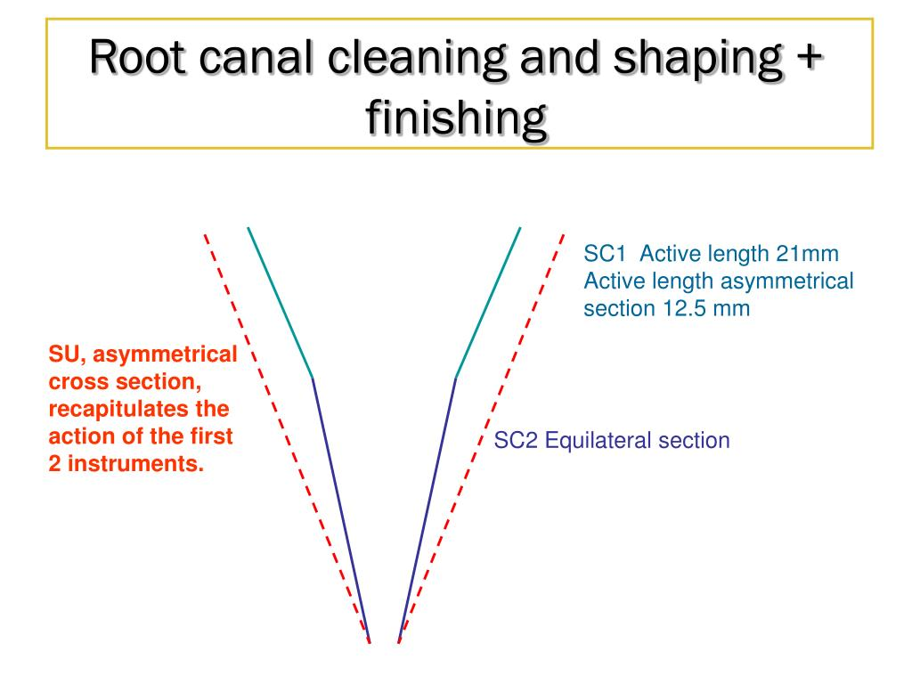 Root canal cleaning and shaping + finishing