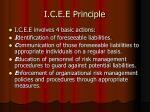 i c e e principle
