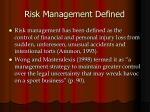 risk management defined