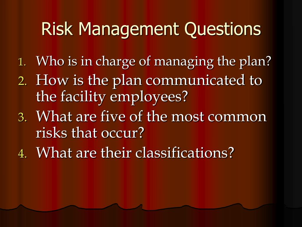 Risk Management Questions