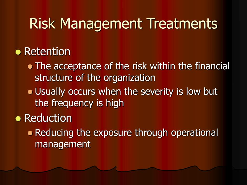Risk Management Treatments