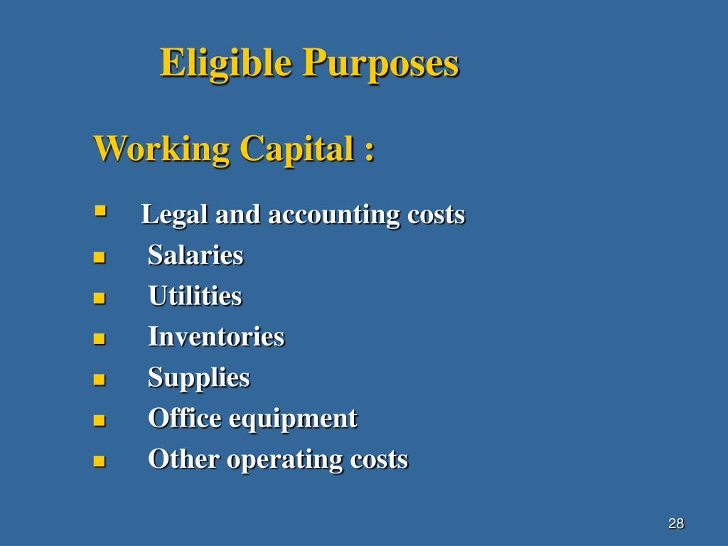 Eligible Purposes