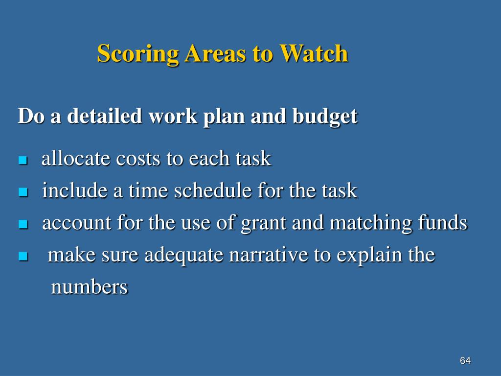 Scoring Areas to Watch