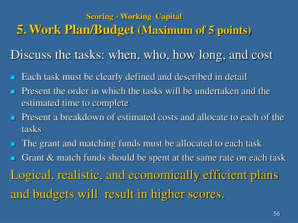 Scoring - Working  Capital
