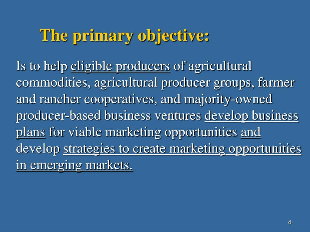 The primary objective: