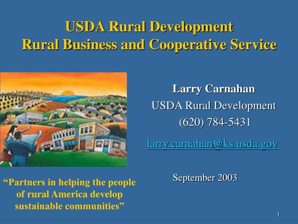 usda rural development rural business and cooperative service l.