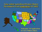 value added agricultural product market development grant applications fy 2002