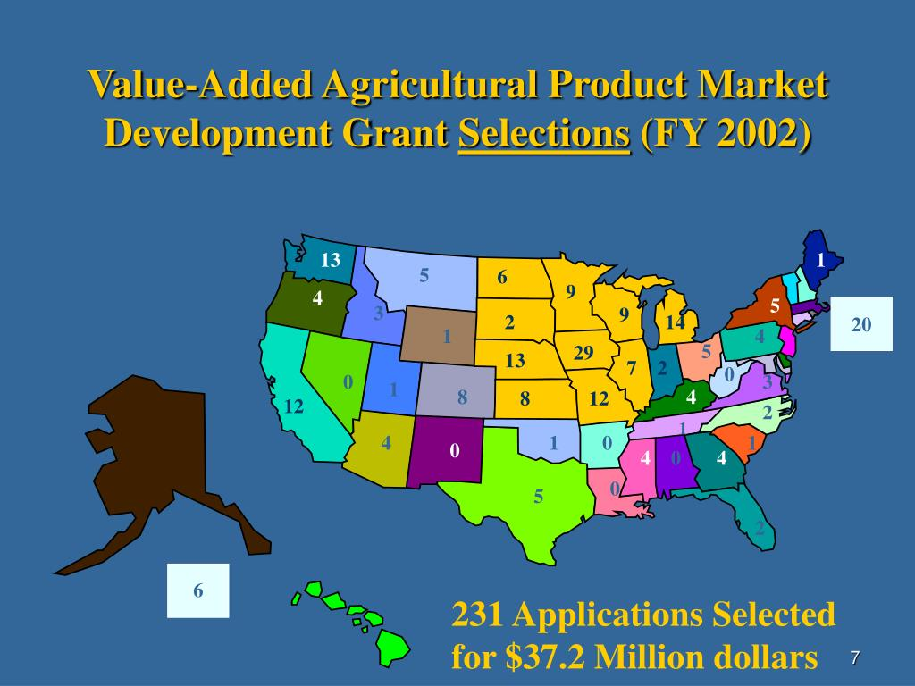 Value-Added Agricultural Product Market Development Grant