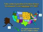 value added agricultural product market development grant selections fy 2002