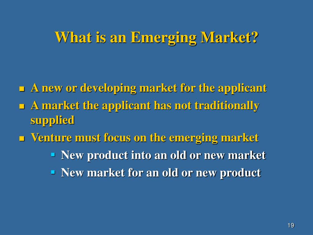 What is an Emerging Market?
