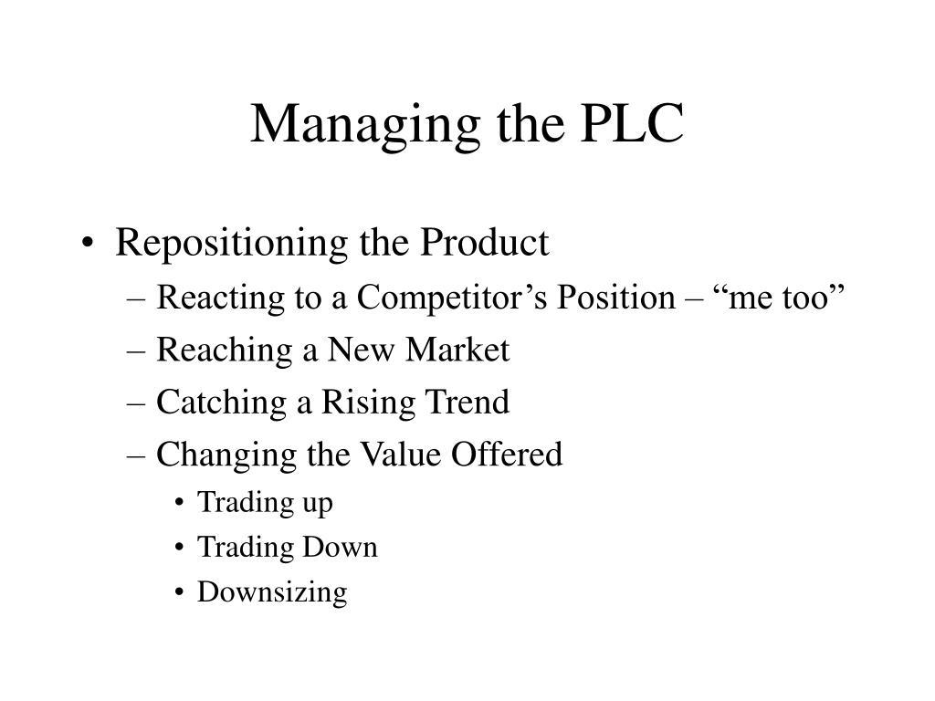 Managing the PLC