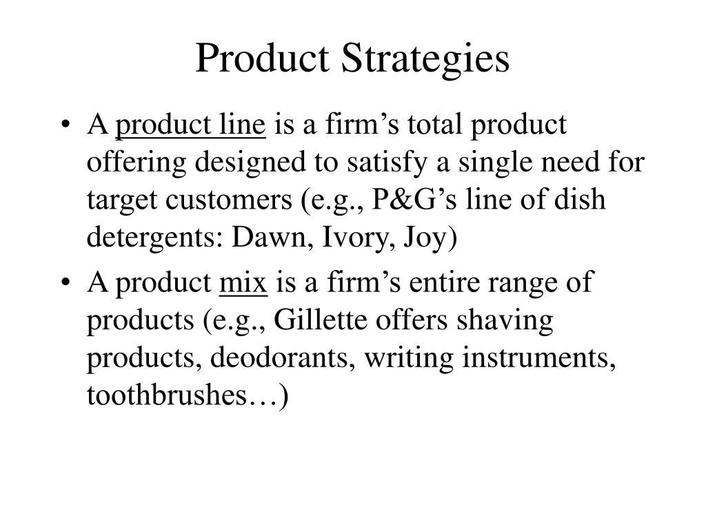 Product Strategies
