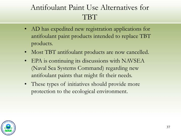 Antifoulant Paint Use Alternatives for TBT