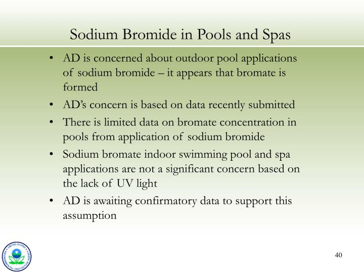 Sodium Bromide in Pools and Spas