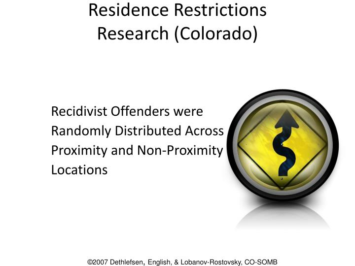Residence Restrictions