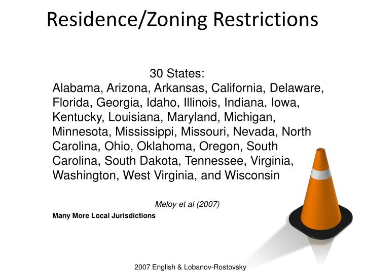 Residence/Zoning Restrictions
