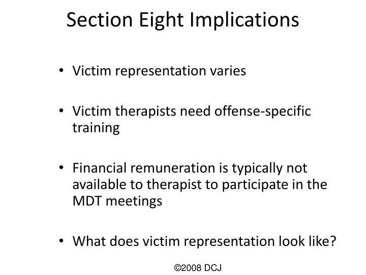 Section Eight Implications