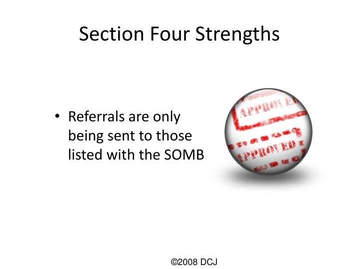 Section Four Strengths