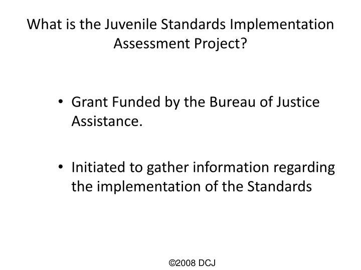 What is the Juvenile Standards Implementation Assessment Project?