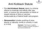 anti kickback statute