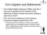 civil litigation and settlements