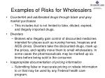 examples of risks for wholesalers