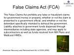 false claims act fca