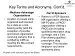 key terms and acronyms cont d