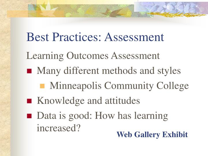 Best Practices: Assessment