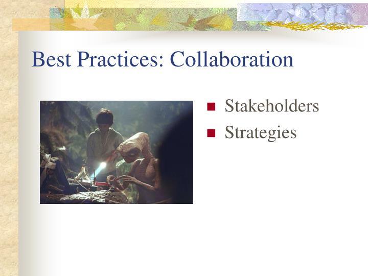 Best Practices: Collaboration