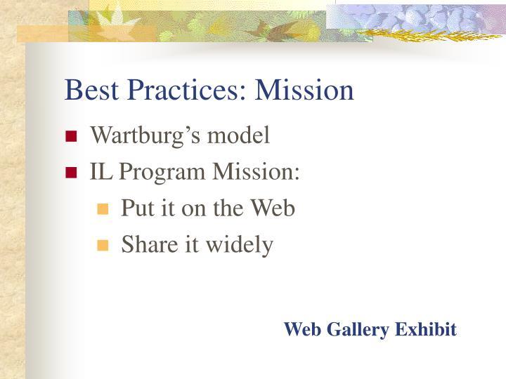 Best Practices: Mission