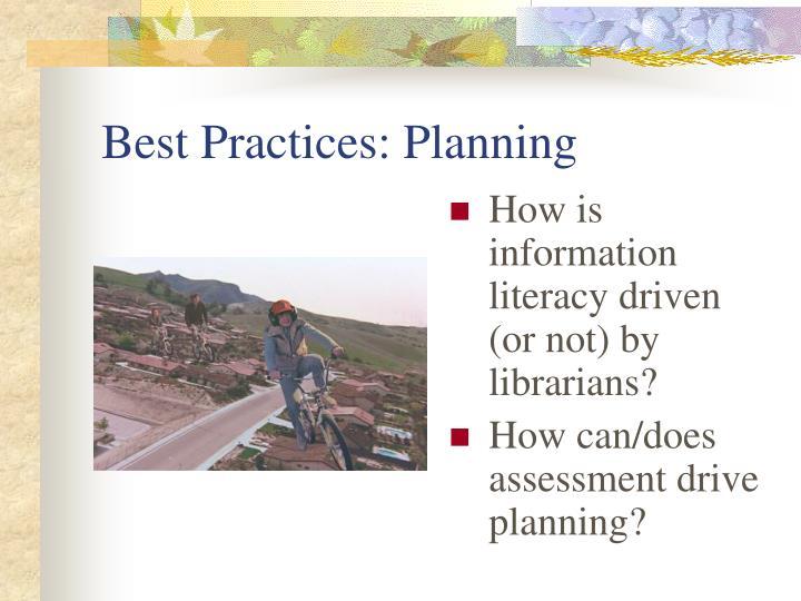 Best Practices: Planning