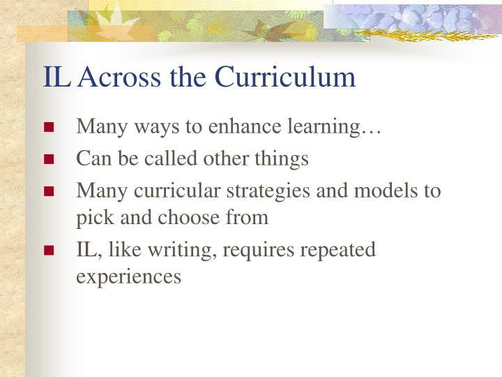 IL Across the Curriculum
