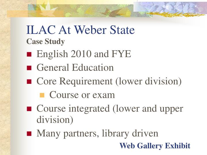 ILAC At Weber State